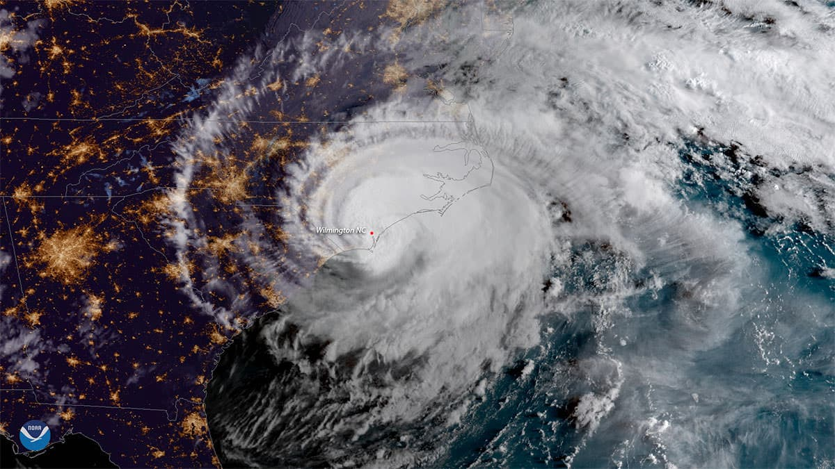 Hurricane Florence made landfall near Wrightsville Beach, North Carolina