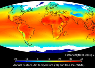 NOAA climate model of Earth