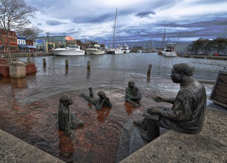 Annapolis, Maryland, pictured here in