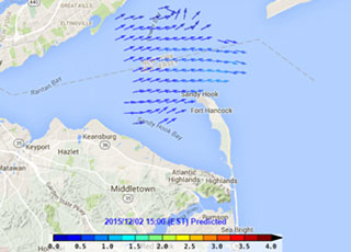 Near real-time surface current data available online for New York Harbor