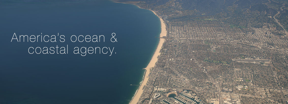Image of Los Angeles coast that shows intense coastal development