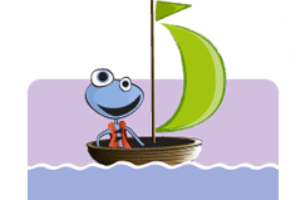 animated character in cartoon boat