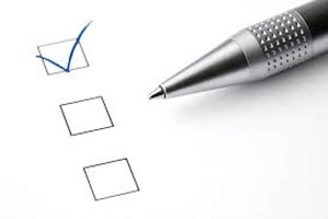 survey check boxes and pen