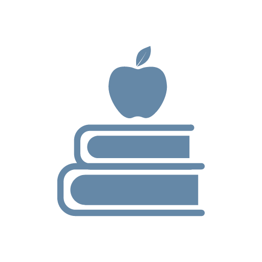 apple and books icon