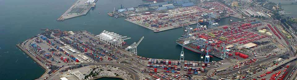 Port of Long Beach viewed from above
