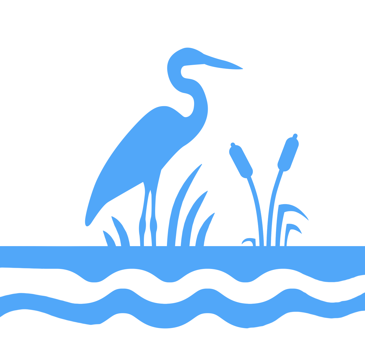 Ecosystems icon - A heron standing in water