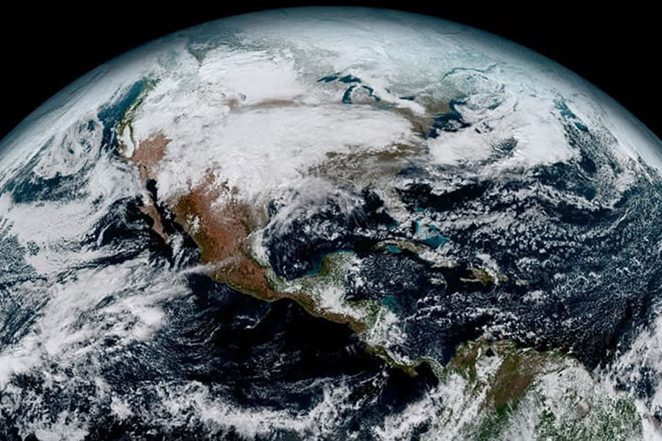 a view of the Earth from space