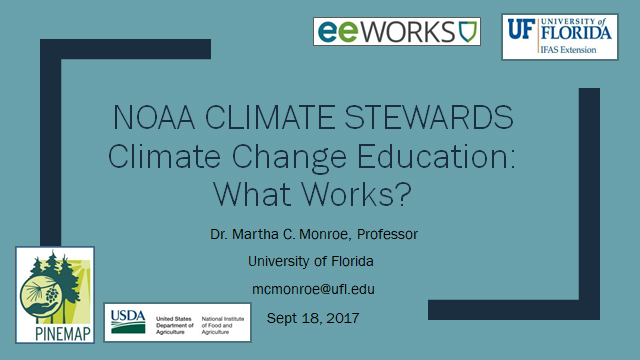 Climate Change Education: What Works?