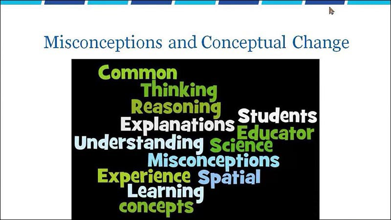Misconceptions and Conceptual Change first slide