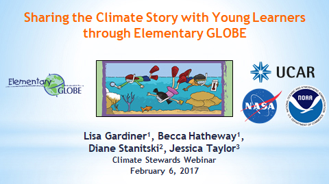 Sharing the Climate Change Story with Young Learners Through Elementary GLOBE