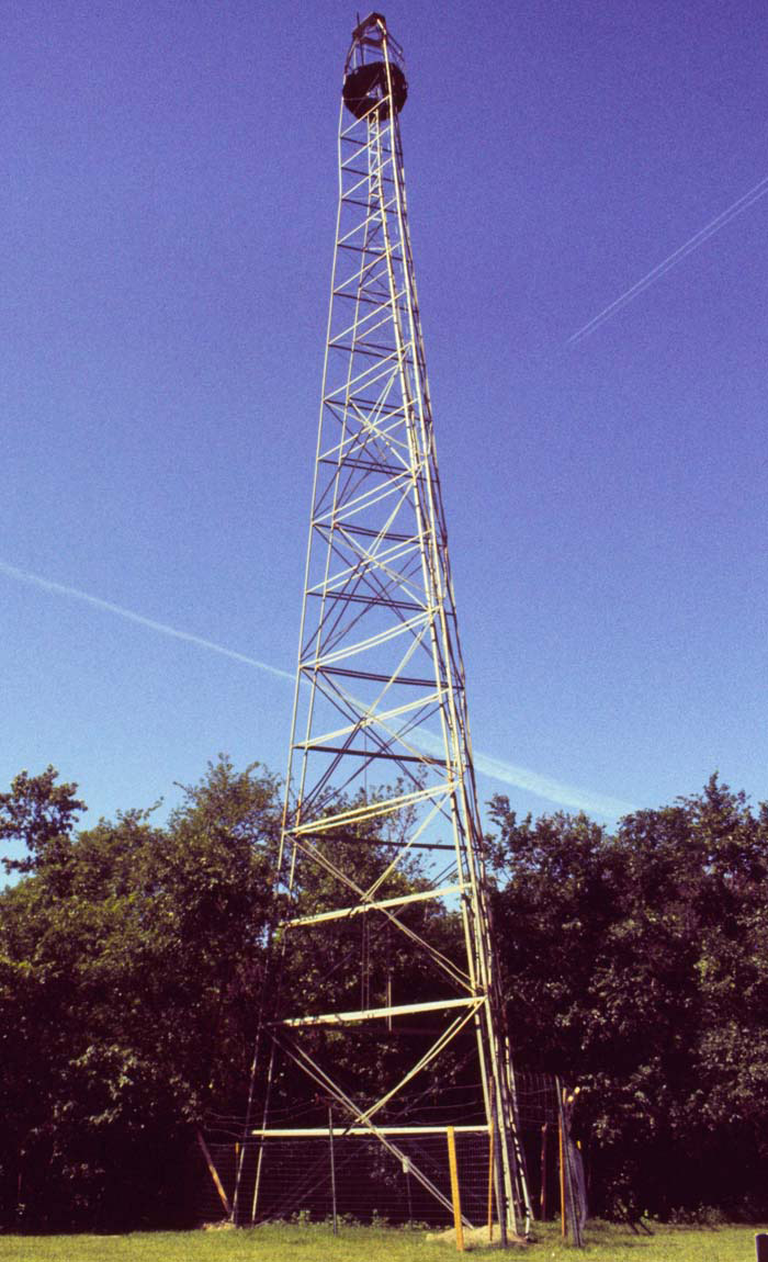 Geodetic survey tower