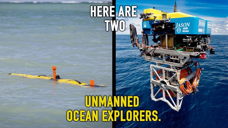 What is the difference between an AUV and a ROV?