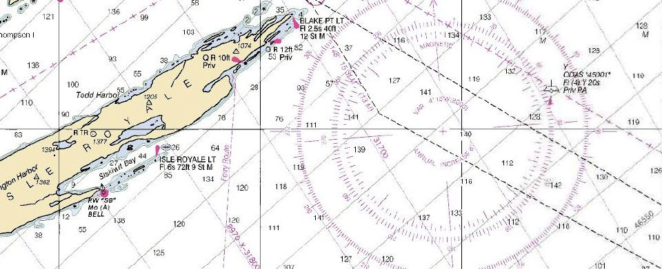 What's the difference between a nautical chart and a map?