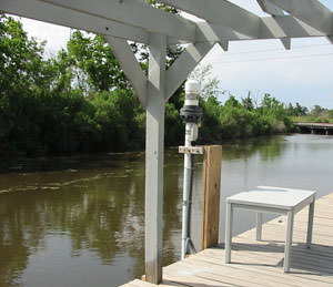 tide gauge at the St. Charles Parish Water Level Monitoring