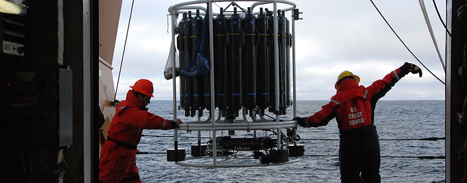 Deployment of a CTD rosette