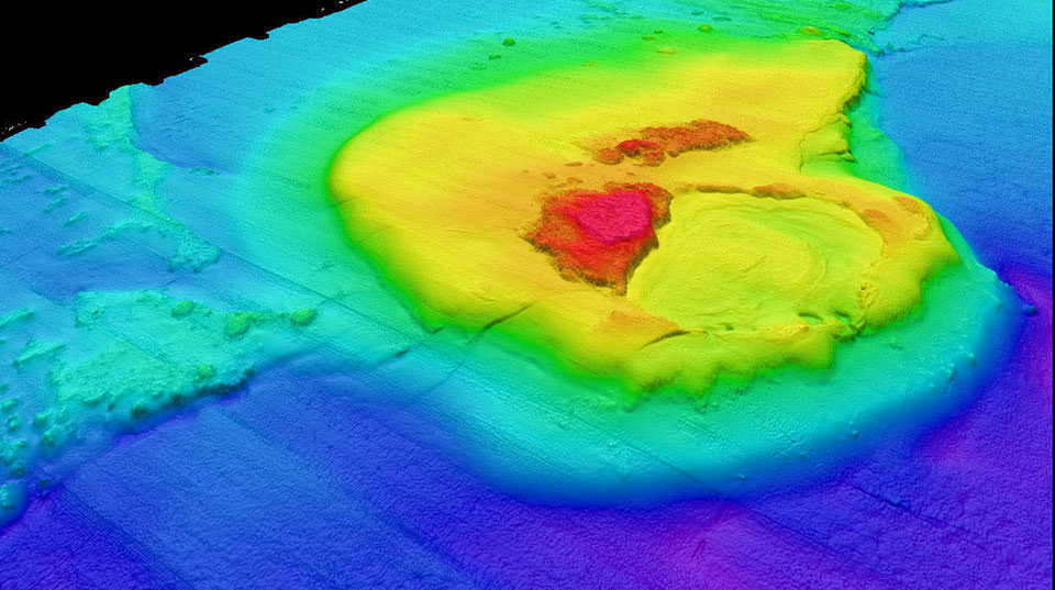 Bathymetry map of East Flower Garden Bank.