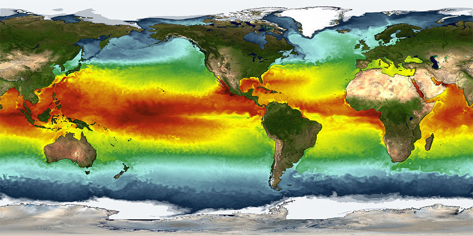 A simulation of sea-surface temperatures from a GFDL climate model