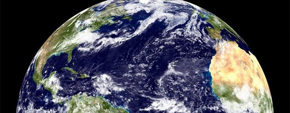 satellite image showing the Atlantic Ocean