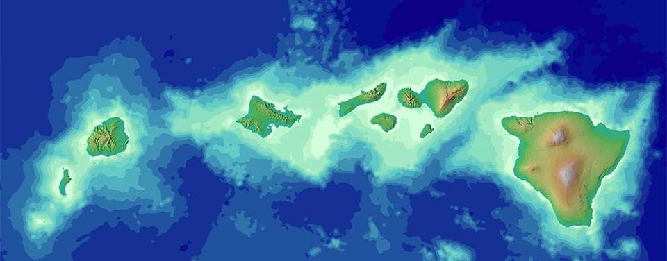 How did the Hawaiian Islands form