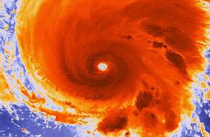 View of Hurricane Michael, the first category 3 storm of the 2012 season.