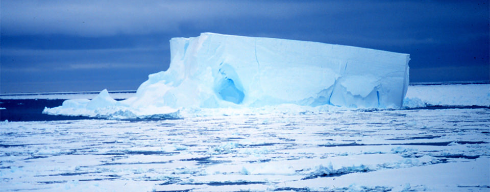 Iceberg located in Ross Sea, Antarctica.