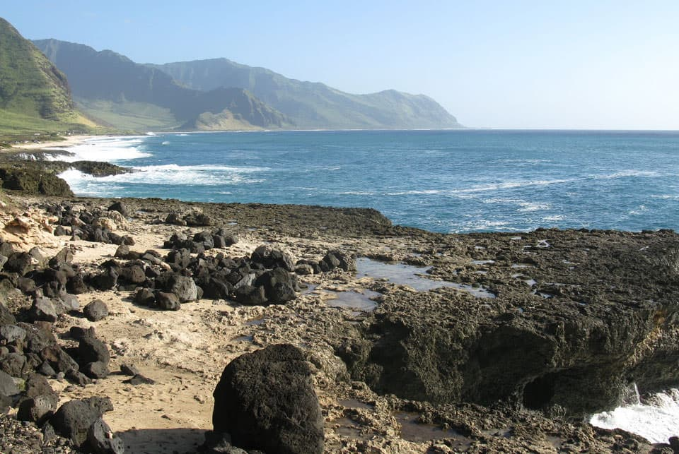 South of Ka'ena Point, Oahu, Hawaii
