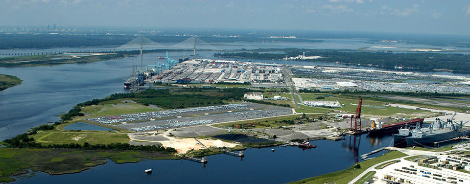 aerial view of Jacksonville PORTS