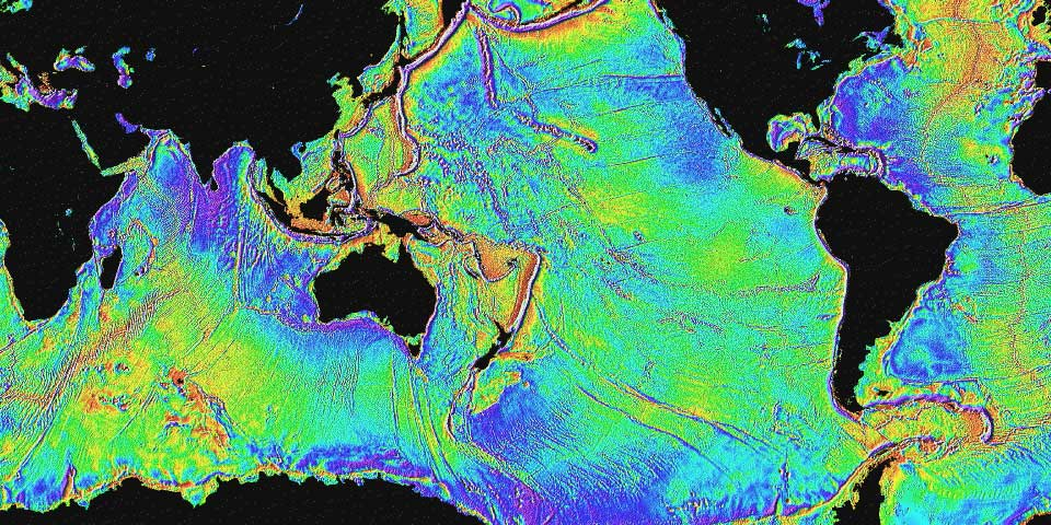 The Surface Of The Ocean Bulges Outward And Inward, Mimicking The  Topography Of The Ocean Floor. The Bumps, Too Small To Be Seen, Can Be  Measured By A Radar ...