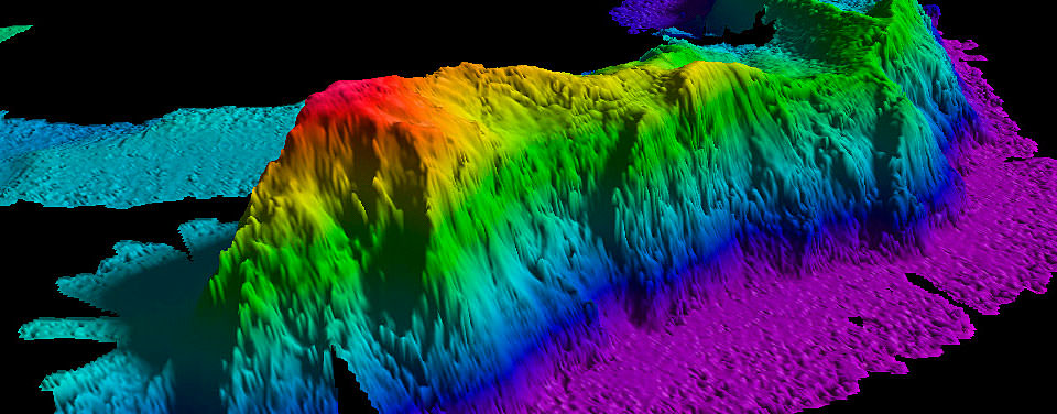 What is a seamount for Deep ocean floor definition