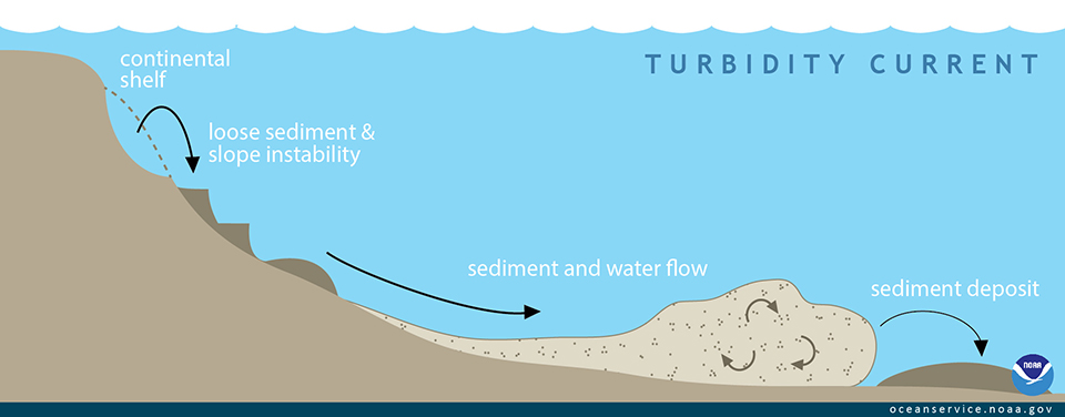 illustration of turbidity current