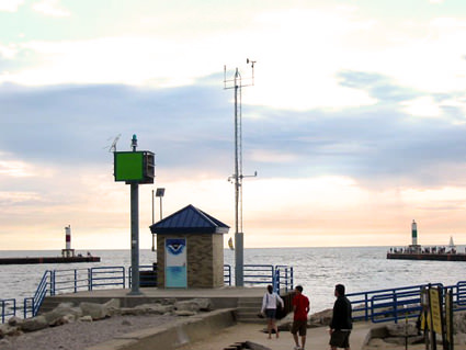 Lake Michigan's New Water Level Station