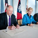 Illinois Coastal Management Program agreement signing with officials