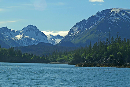 Halibut Cove in Kachemak Bay National Estuarine Research Reserve, Alaska. Kachemak Bay is the largest reserve in the National Estuarine Research Reserve System, encompassing over 360,000 acres of estuarine and upland habitats.