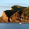 sailboat off the southern end of Santa Cruz Island