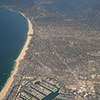 Pacific coastline along Santa Monica, California