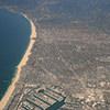 Pacific coastline along Santa Monica, California