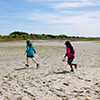 Children explore the Rachel Carson Reserve