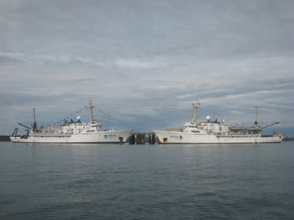 NOAA Ships Fairweather and Rainier