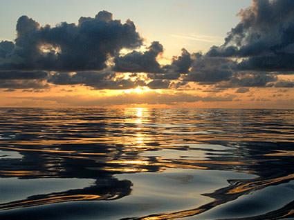 Kure Atoll Sunset. Image credit: Robert Schwemmer, NOAA National Marine Sanctuaries