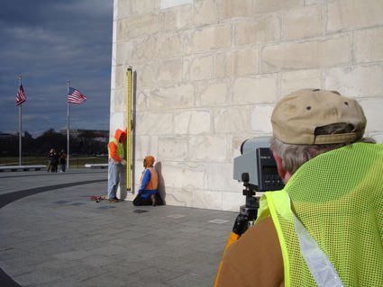 Leveling Washington Monument