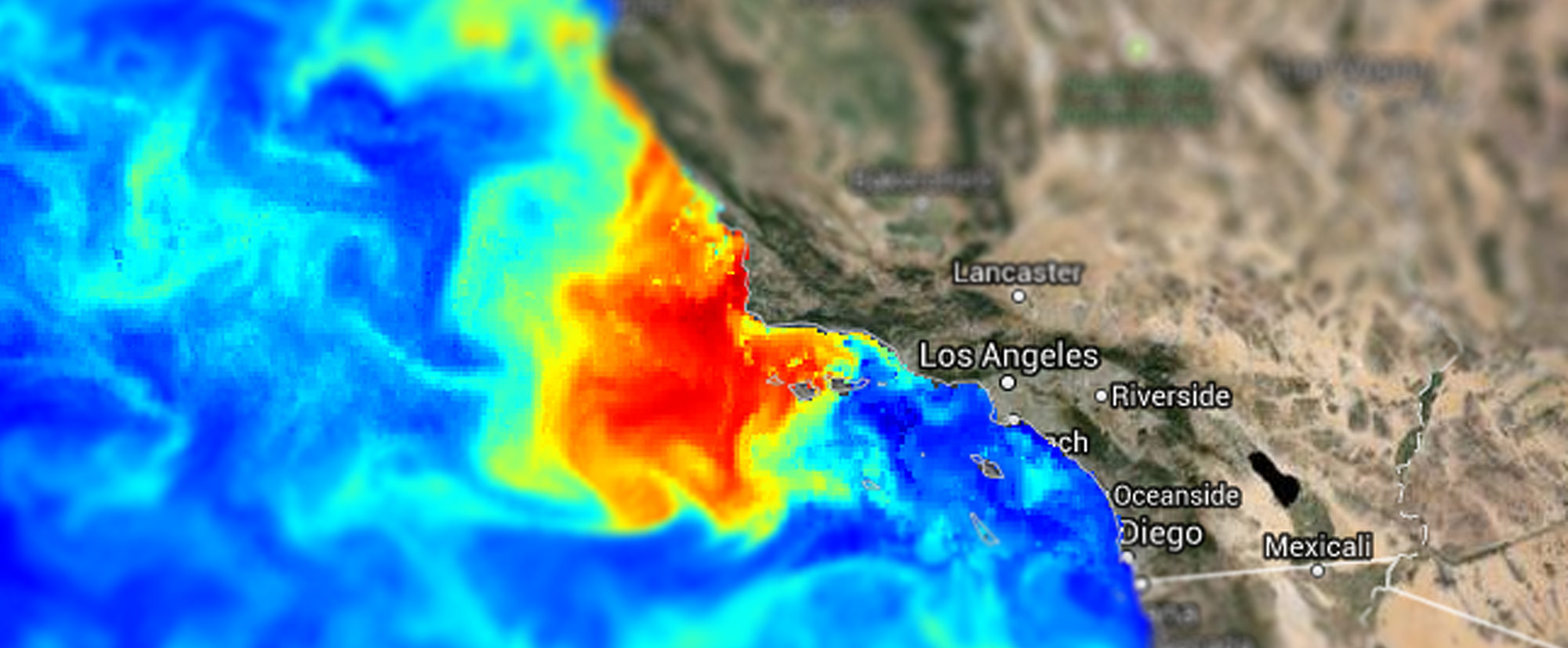 an animated image showing a 2017 HAB off the coast of California
