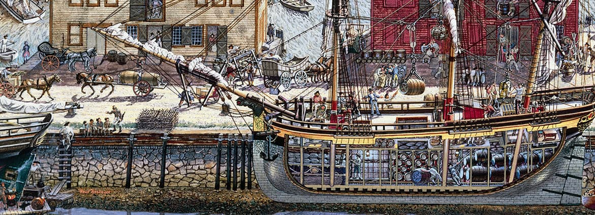 historical port illustration