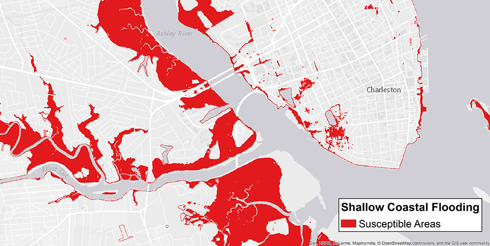 NOAAs Expanded Flood Information Tool Promotes Resilience - Map of flooding in us