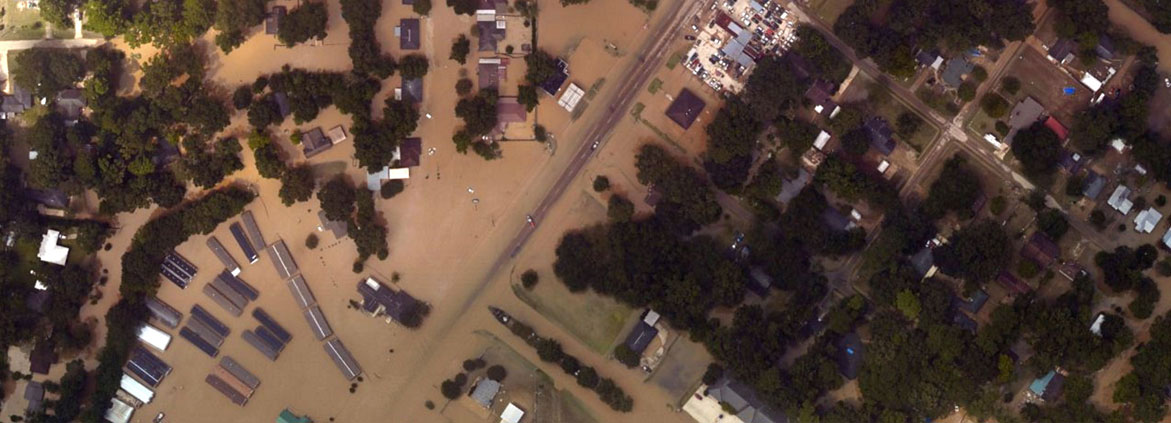 flooding in Denham Springs, Louisiana
