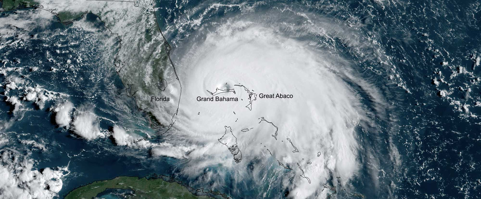 Tropical Storm Dorian, seen here by GOES East on Sept. 2, 2019