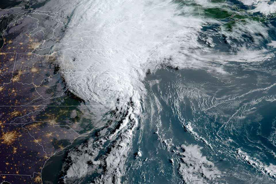 Tropical Storm Isaias, seen here by GOES East on Aug. 3, 2020, at 7:30 a.m. ET