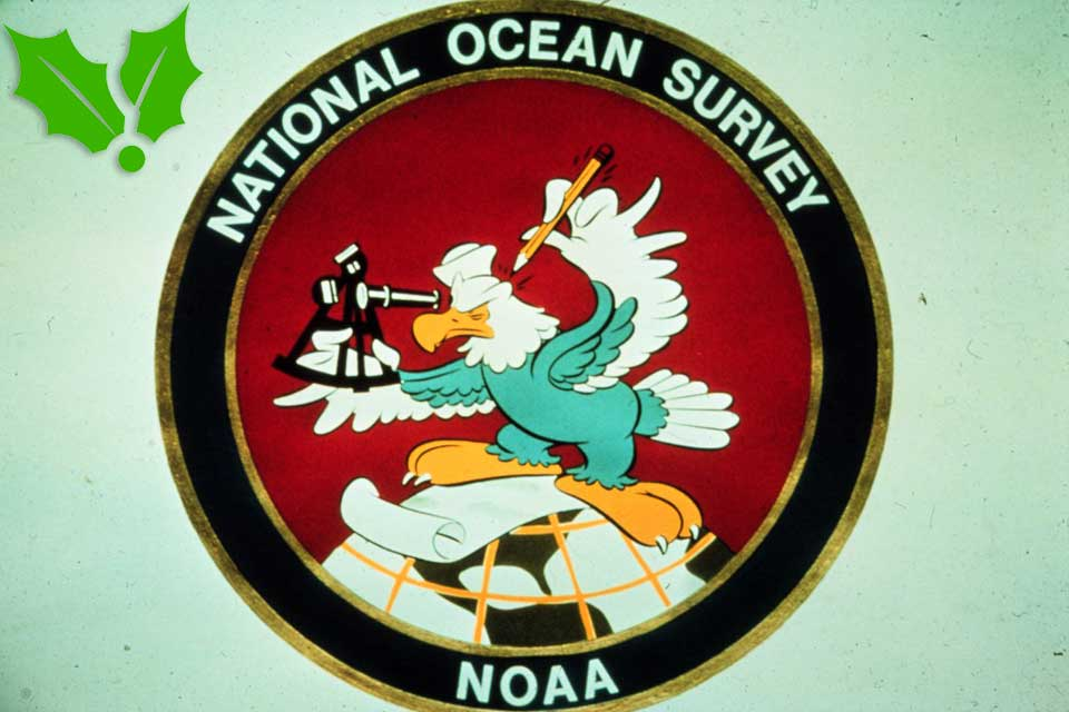 The Walt Disney Studio's inspired insignias, such as the U.S.  Coast & Geodetic Survey Eagle designed for one of NOAAs predecessor  agencies, raised the troops' spirits.