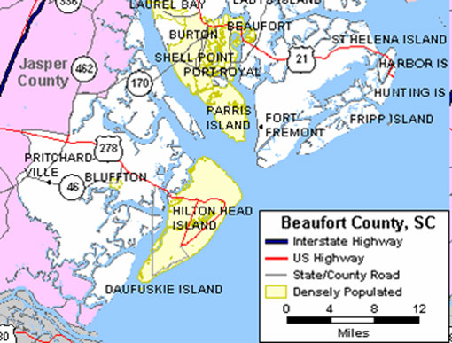 Map Of Bluffton South Carolina Bluffton, South Carolina: A Small Town with a Big Looking Glass