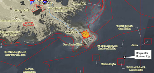 Excerpt From The U S Mpas In Proximity Of The Deepwater Horizon Oil Spill Map Visit The Mpa Center Web Site To Download A Pdf Of The Map