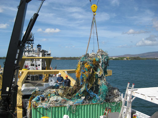 "The NOAA Ship Sette unloads its undesirable ""catch."""